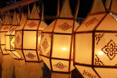 Thai Yellow Lantern Stock Photo - 11930584