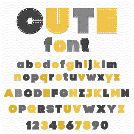 threats: cute Colorful childish font  made by threats  uppercase and lowercase included in typeface