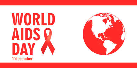 aids: Aids Awareness. World Aids Day concept. Illustration