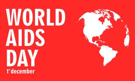 aids virus: Aids Awareness. World Aids Day concept. Illustration