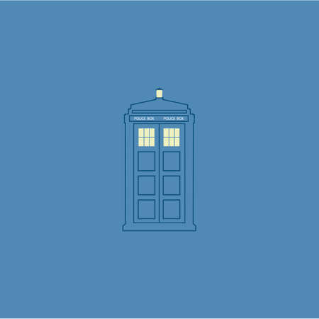 doctor who: vector illustration of british police box on baclground Illustration
