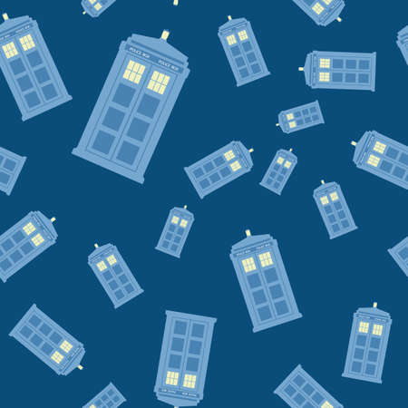 vector illustration of british police box on baclground Vectores