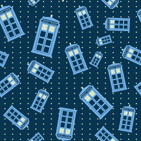 vector illustration of british police box on baclground Illustration