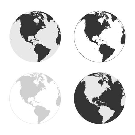 Earth vector icons set. may be use for apps