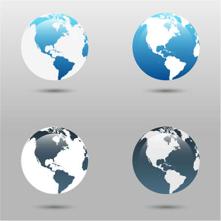 fly around: Earth vector icons set. may be use for apps