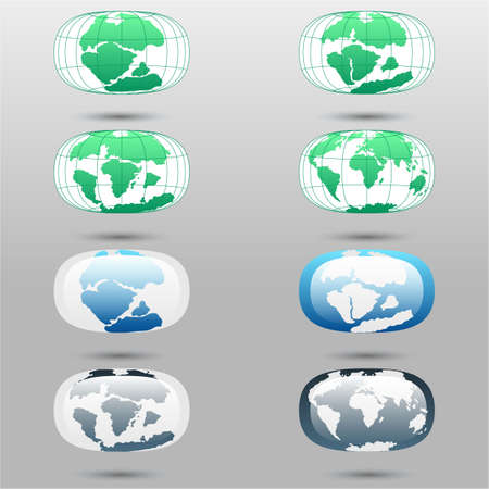 tectonic: Tectonic Plates on the planet Earth. modern continents and tectonic plates infographics Set of icons Earth