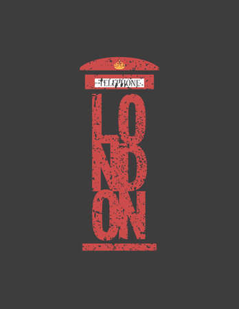 telephone box: British telephone box London vintage style London word, London public call,