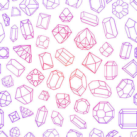 dearly: flat icon set diamonds gemstones in different styles and shapes Illustration