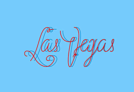 las vegas strip: Las Vegas one line lettering for different abilities