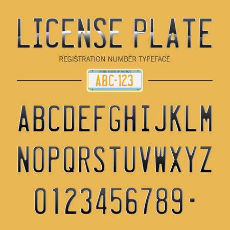 nummerplaat lettertype, usa auto nummers lettertype