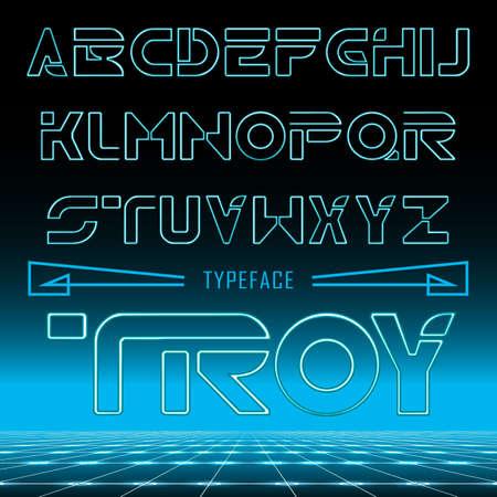 modern font , uppercase and lowercase typefase symbols Illustration