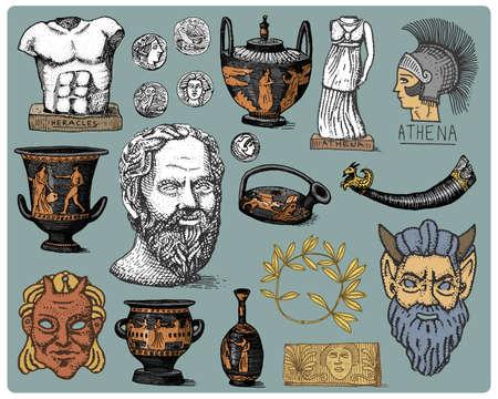 Berühmt Malvorlagen Der Antiken Griechischen Götter Bilder - Framing ...