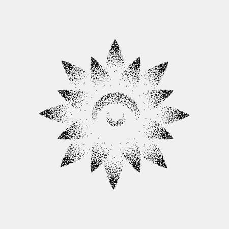 Set of impossible and other tattoo shapes, dotwork, blackwork all made of dots. Geometrical, sacred figures stars and cubes Illustration