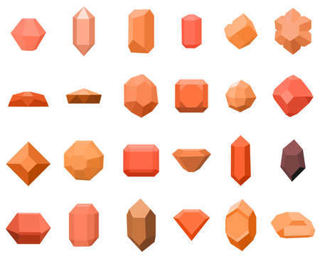 Set of 16 diamonds. gemstone icons set. vector illustration with stones. can be use for jewelry.