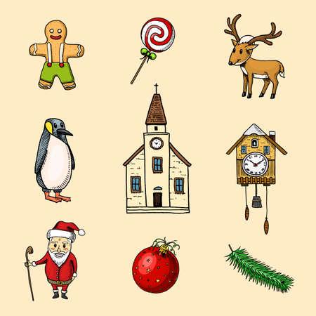 reloj cucu: Decoración de vacaciones de invierno.