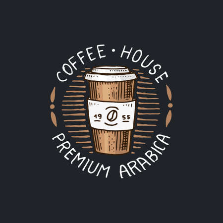Coffee house logo vector illustration