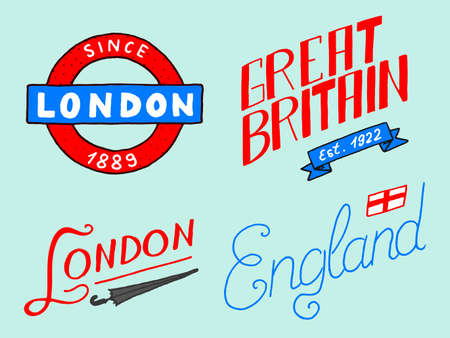 British, Crown and Queen, London and the gentlemen. symbols, badges or stamps, emblems or architectural landmarks, United Kingdom. Country England label.