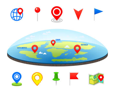 Geo pin as icon vector illustration.