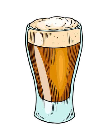 Bicchiere da birra, boccale o bottiglia per l'Oktoberfest. Inciso a mano con inchiostro disegnato in vecchio schizzo e stile vintage per web, invito.