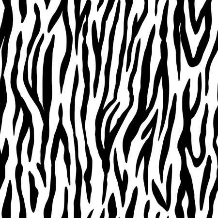 Animal seamless pattern. Zebra texture. Mammals Fur. Print skin. Striped Predator Camouflage. Printable Background. Vector illustration. 向量圖像