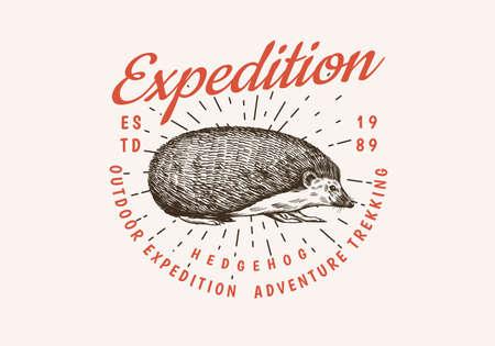 Hedgehog badge.