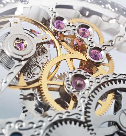 Uhrwerk Standard-Bild