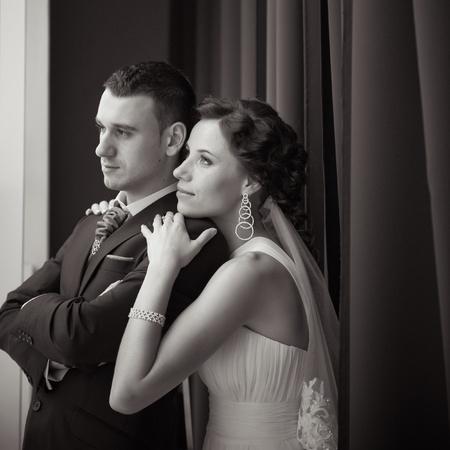 美しい花嫁と花婿 写真素材