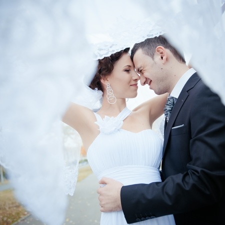 A beautiful bride and groom