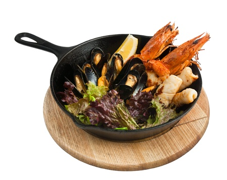 Seafood  Shrimp with mussels