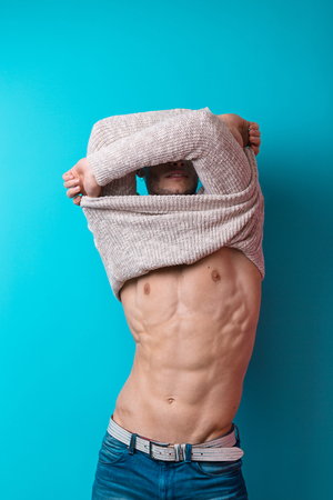 Beautiful male body Archivio Fotografico