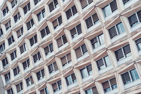 Facade of a residential building.Modern European residential apartment