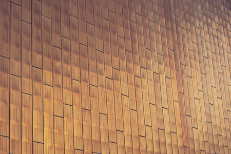 Modern architectural details. Abstract metallic gold facade