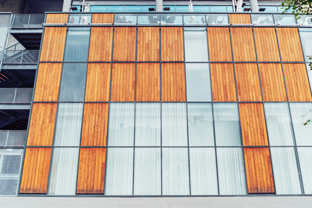 Modern office building facade in the downtown