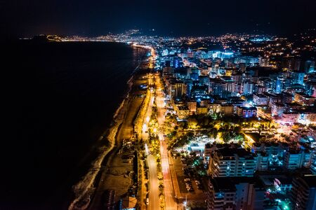 Cityscape downtown at night Hadim, Konya, Turkey