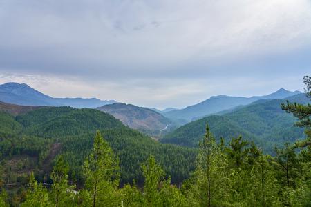 Mountains near Alanya, Turkey under a cloudy sky.