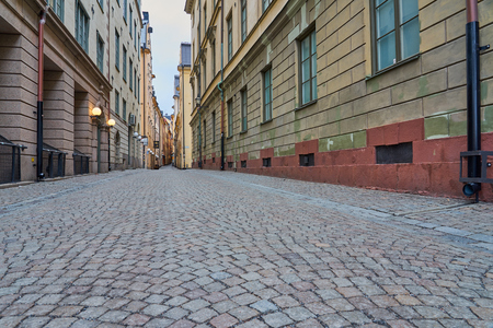 Street view in Gamla Stan  the Old city of Stockholm.
