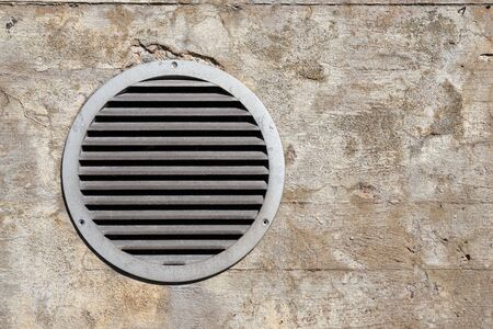 Air ventilation on a wall. Copy space.