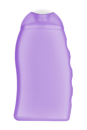 no label: Purple blank shampoo bottle, no label, isolated on transparent or white background