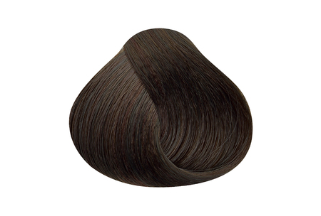 Lock of dark auburn brown hair color sample Banco de Imagens