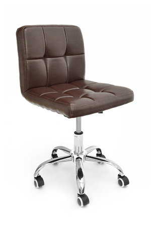 Office chair. Modern brown leather chair for office managers and CEOs. Isolated on white background