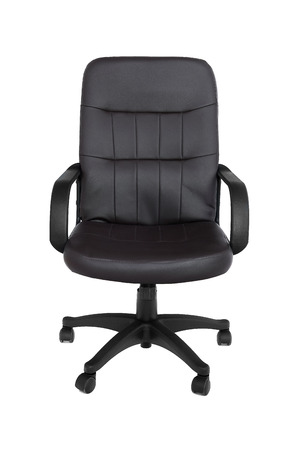 Office premium chair. Modern brown leather chair for office managers and CEOs, isolated on white background