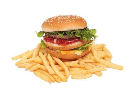 pasteleria francesa: s�ndwich y patatas fritas