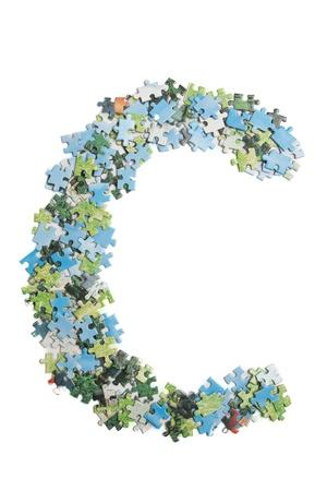 Letter made by puzzles Zdjęcie Seryjne - 9273938