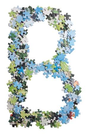 Letter made by puzzles Zdjęcie Seryjne - 9273949