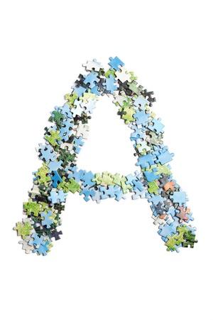 Letter made by puzzles Zdjęcie Seryjne - 9273937