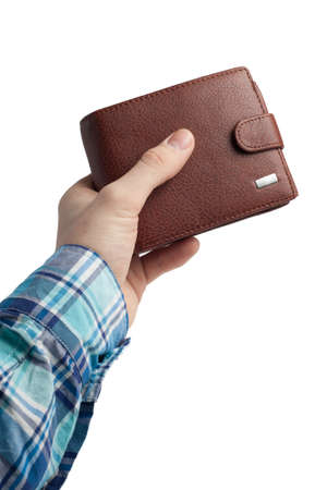 Wallet in hand Stock Photo - 12906603