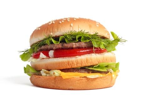 Big burger isolated on white