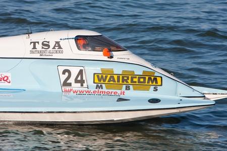 VYSHGOROD, UKRAINE - JULY 30: Singha F1 Racing Team on Grand Prix of Ukraine F1H2O UIM World Championship for power boating, July 30, 2011. Vyshgorod, Kyiv Region. Stock Photo - 12849407