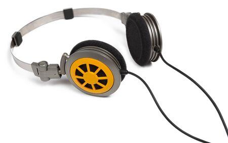 studio b: Modern headphones isolated on white background