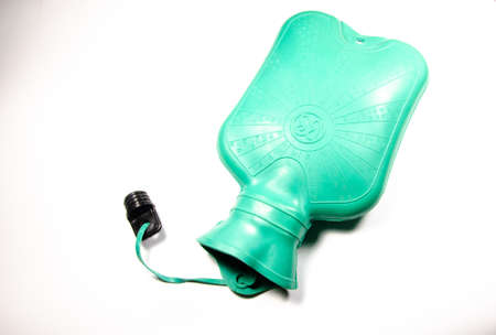 Medical Warmer. Medical hot water bottle. On a white background for heating, pain and cramps